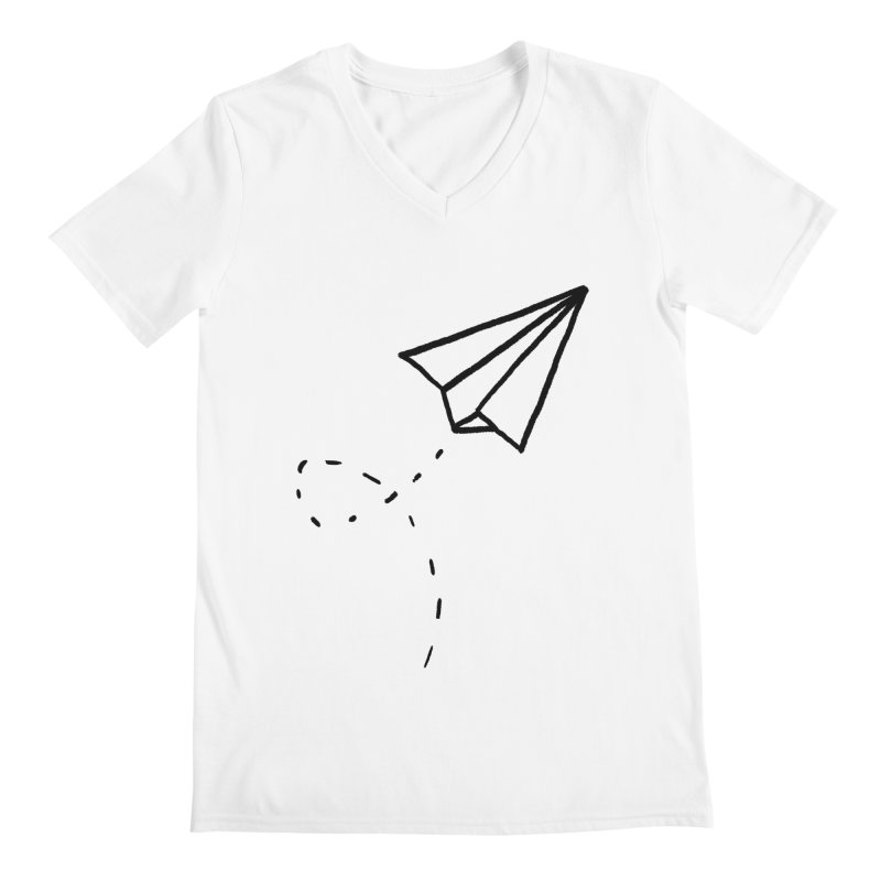 Paper Plane Men's V-Neck by Leah Flores' Artist Adventureland Shop