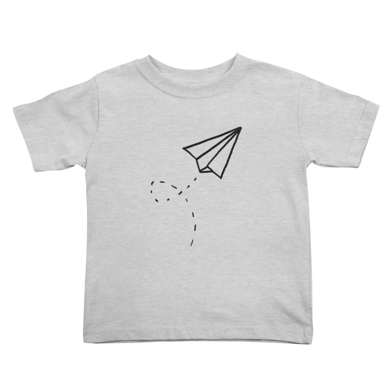Paper Plane Kids Toddler T-Shirt by Leah Flores' Artist Adventureland Shop