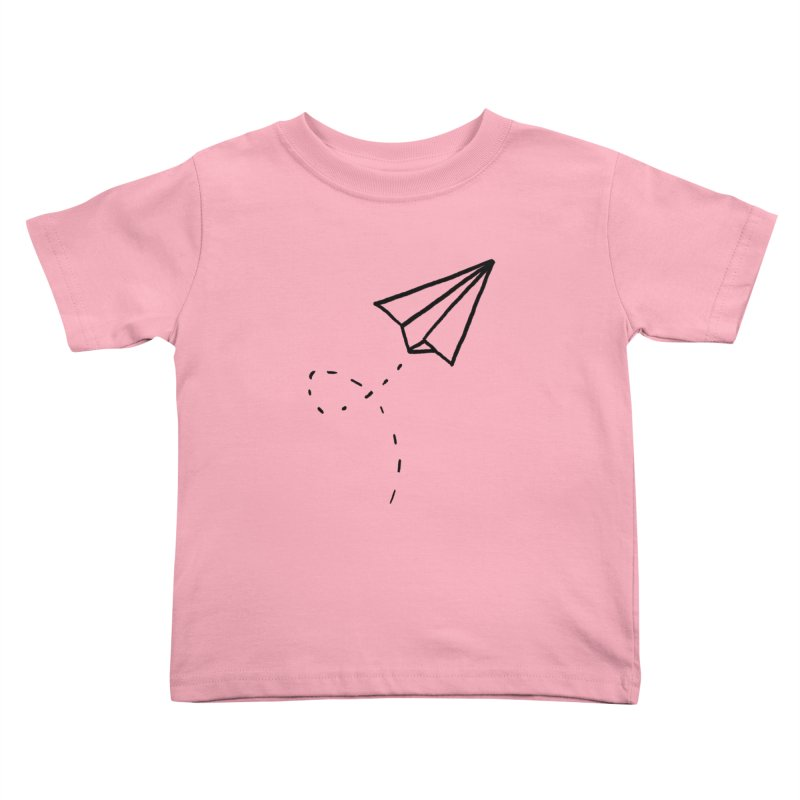 Paper Plane Kids Toddler T-Shirt by Leah Flores' Artist Adventureland Shop