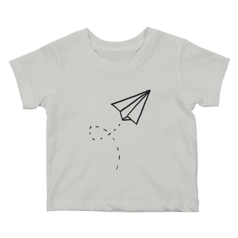 Paper Plane Kids Baby T-Shirt by Leah Flores' Artist Adventureland Shop