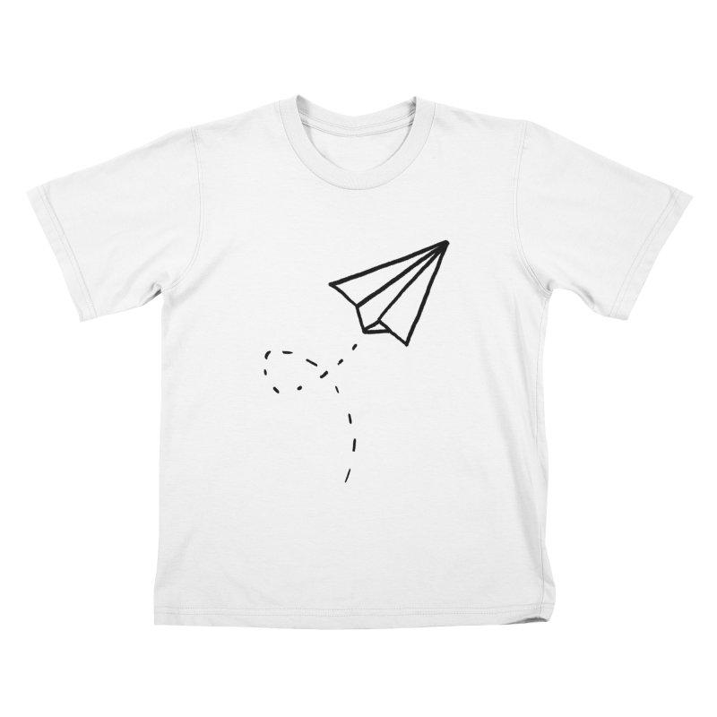 Paper Plane Kids T-Shirt by Leah Flores' Artist Adventureland Shop