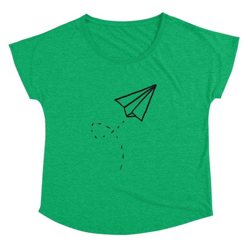 Paper Plane Women's Dolman by Leah Flores' Artist Adventureland Shop