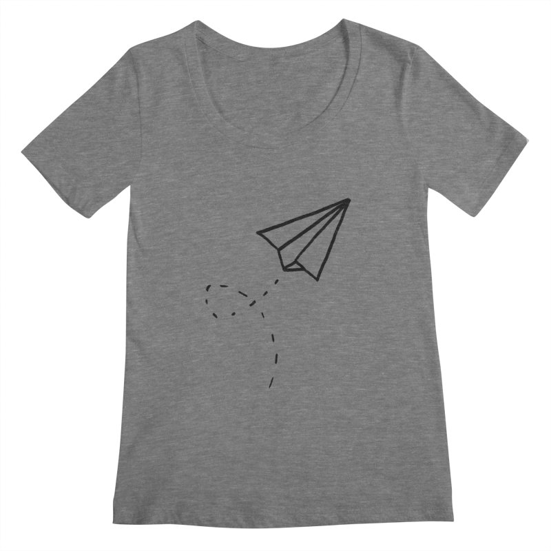 Paper Plane Women's Scoopneck by Leah Flores' Artist Adventureland Shop