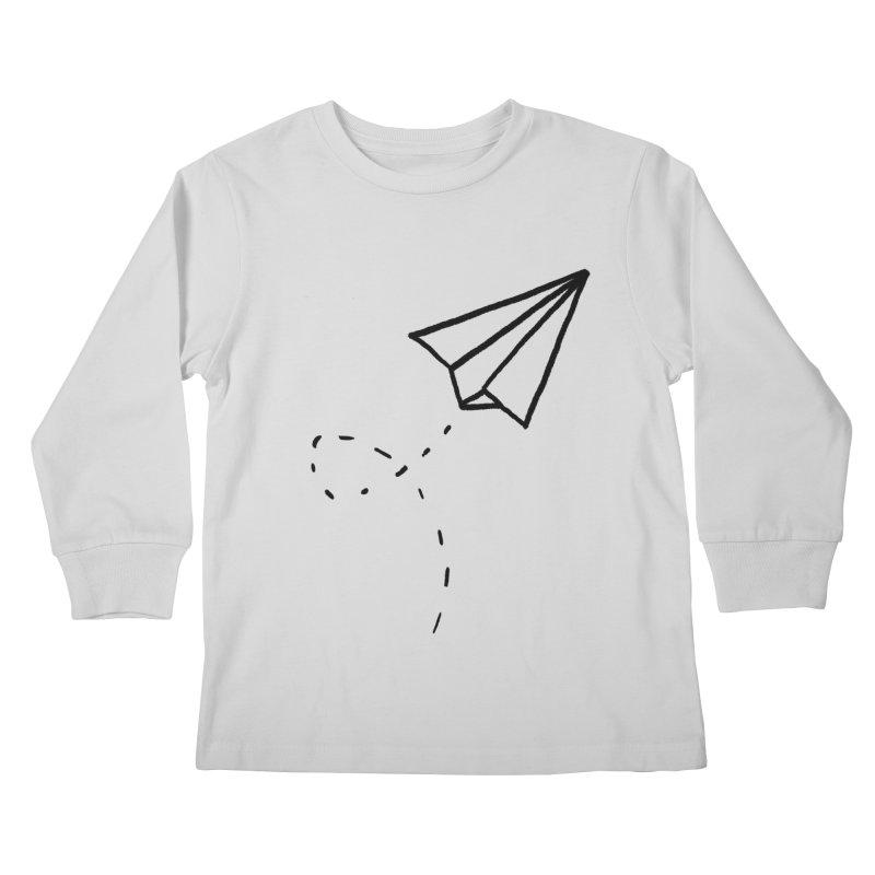 Paper Plane Kids Longsleeve T-Shirt by Leah Flores' Artist Adventureland Shop