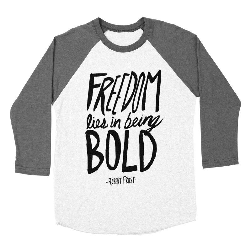 Freedom Bold Men's Baseball Triblend T-Shirt by Leah Flores' Artist Adventureland Shop