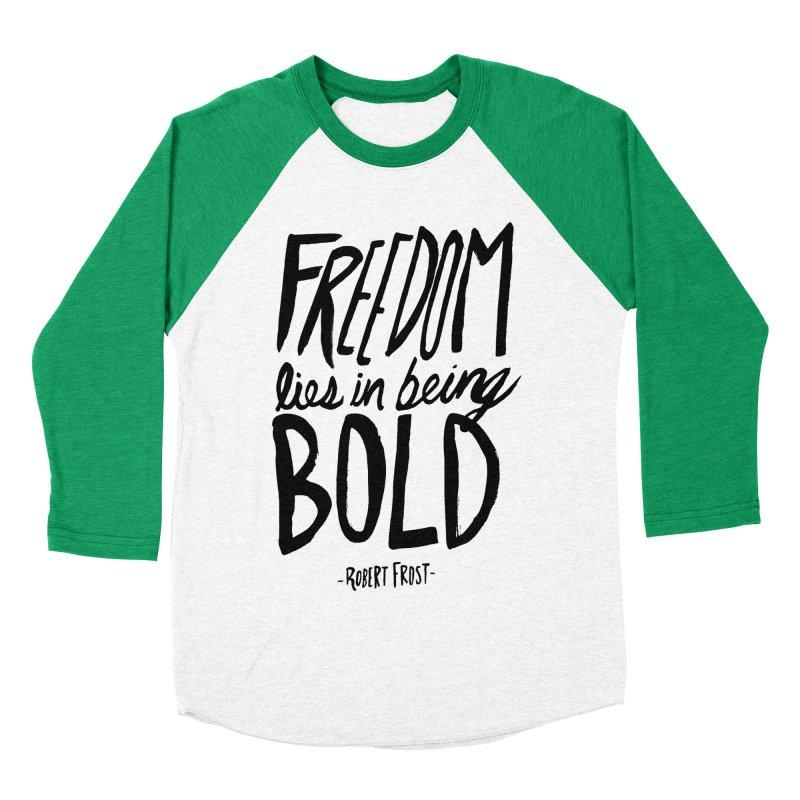 Freedom Bold Men's Baseball Triblend Longsleeve T-Shirt by Leah Flores' Artist Adventureland Shop