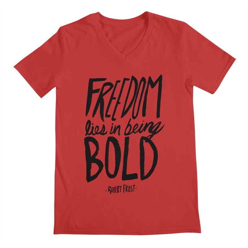 Freedom Bold Men's V-Neck by Leah Flores' Artist Adventureland Shop