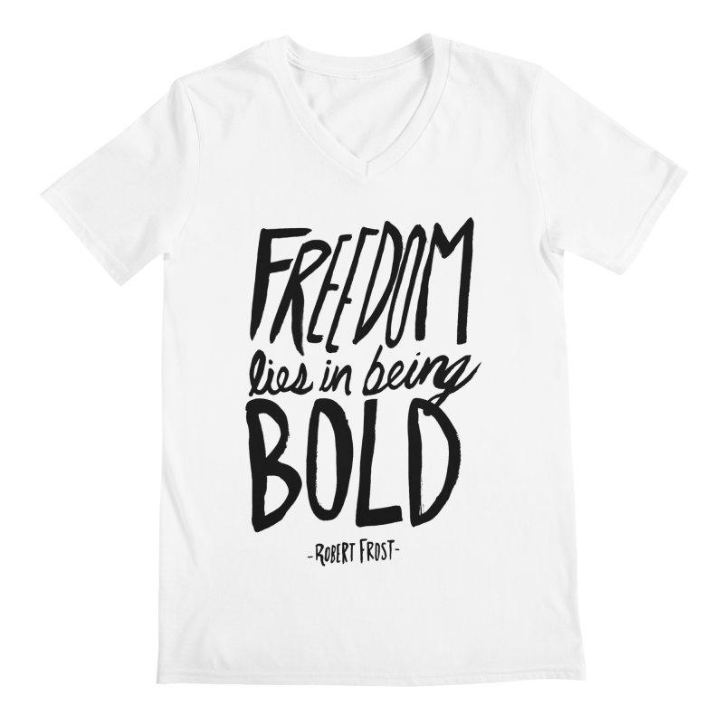 Freedom Bold Men's V-Neck by Leah Flores' Artist Adventureland Shop