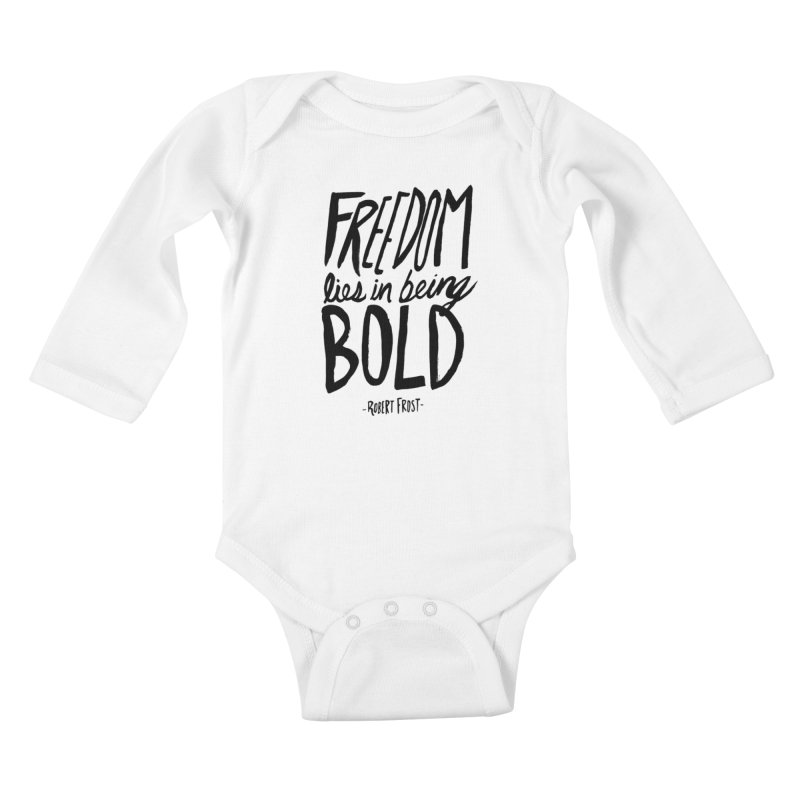 Freedom Bold Kids Baby Longsleeve Bodysuit by Leah Flores' Artist Adventureland Shop