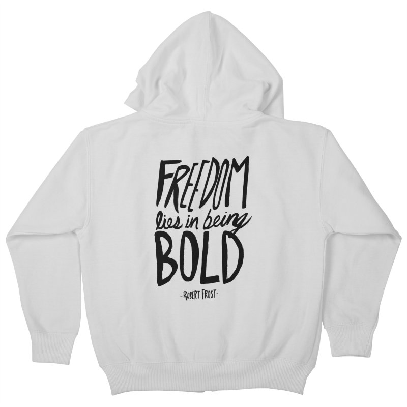 Freedom Bold Kids Zip-Up Hoody by Leah Flores' Artist Adventureland Shop