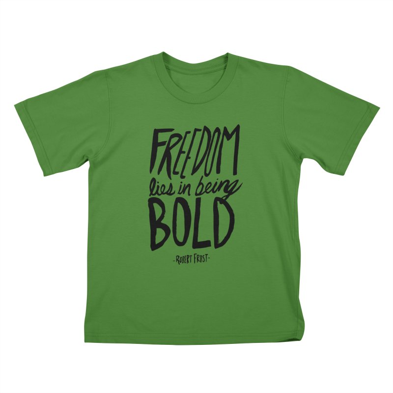 Freedom Bold Kids T-Shirt by Leah Flores' Artist Adventureland Shop