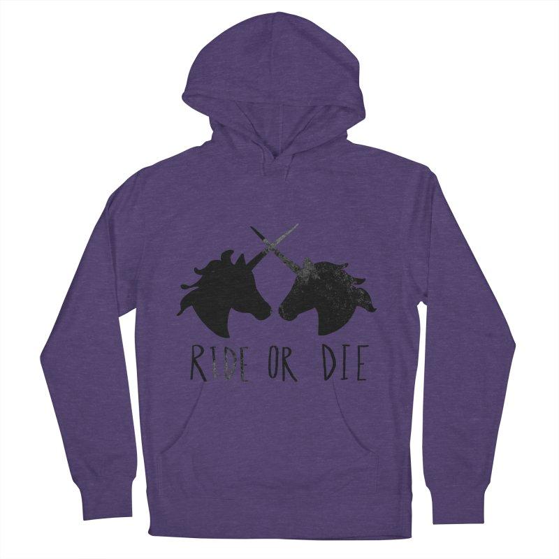 Ride or Die Men's Pullover Hoody by Leah Flores' Artist Adventureland Shop