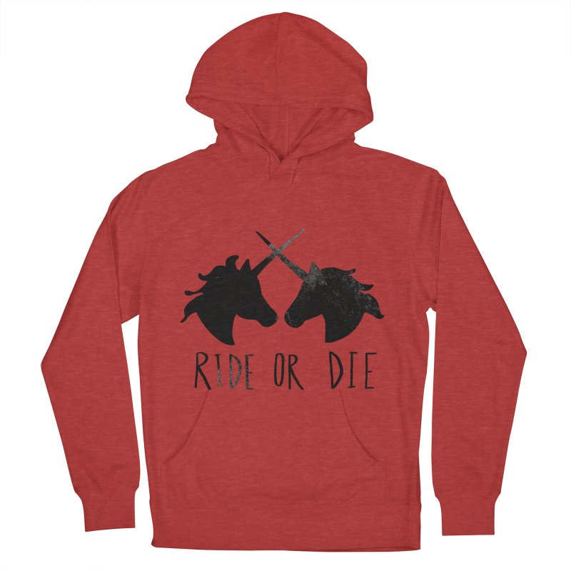 Ride or Die Men's French Terry Pullover Hoody by Leah Flores' Artist Adventureland Shop