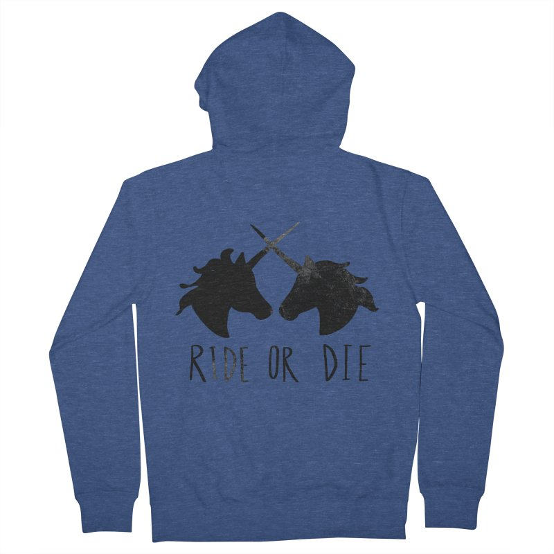 Ride or Die Women's French Terry Zip-Up Hoody by Leah Flores' Artist Adventureland Shop