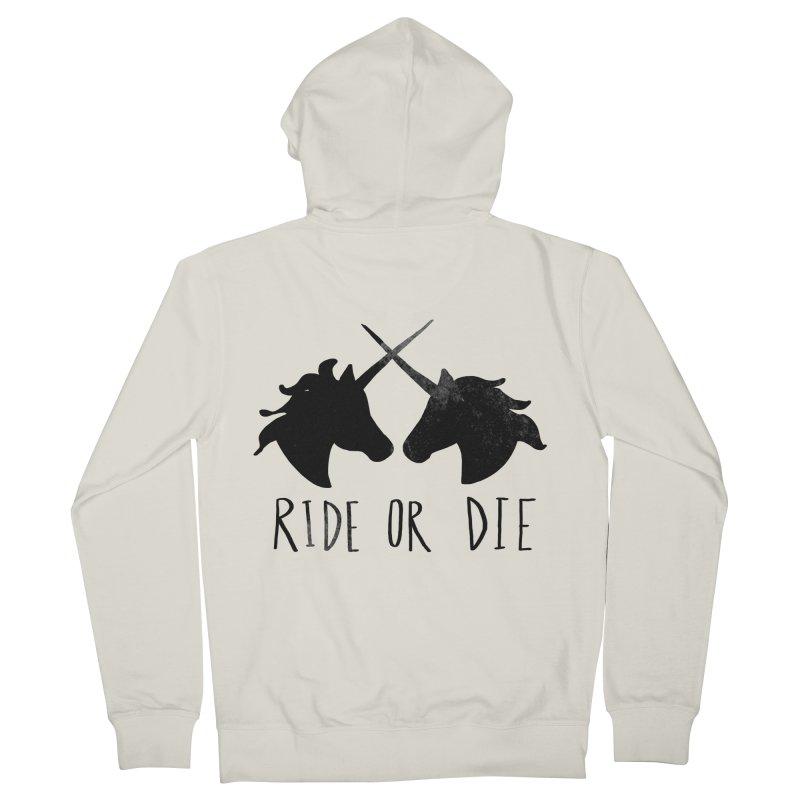Ride or Die Men's Zip-Up Hoody by Leah Flores' Artist Adventureland Shop