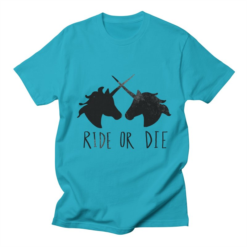 Ride or Die Men's Regular T-Shirt by Leah Flores' Artist Adventureland Shop