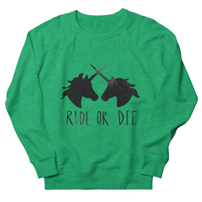 Ride or Die Men's French Terry Sweatshirt by Leah Flores' Artist Adventureland Shop