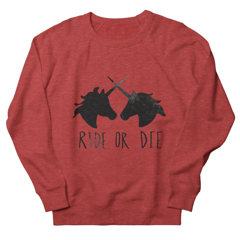 Ride or Die Men's French Terry Sweatshirt by Leah Flores' Artist Adventureland Shop