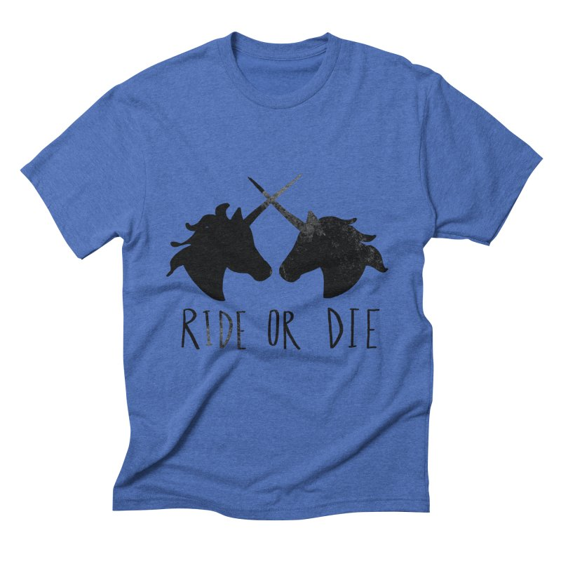 Ride or Die Men's Triblend T-Shirt by Leah Flores' Artist Adventureland Shop