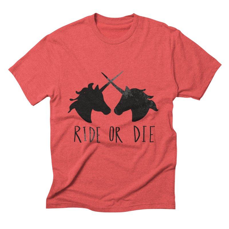 Ride or Die Men's Triblend T-shirt by Leah Flores' Artist Adventureland Shop