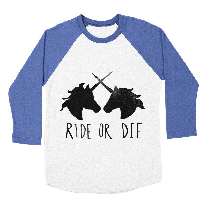 Ride or Die Women's Baseball Triblend Longsleeve T-Shirt by Leah Flores' Artist Adventureland Shop