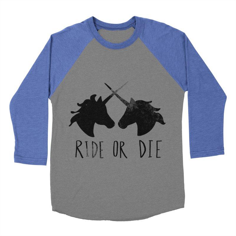 Ride or Die Women's Baseball Triblend T-Shirt by Leah Flores' Artist Adventureland Shop