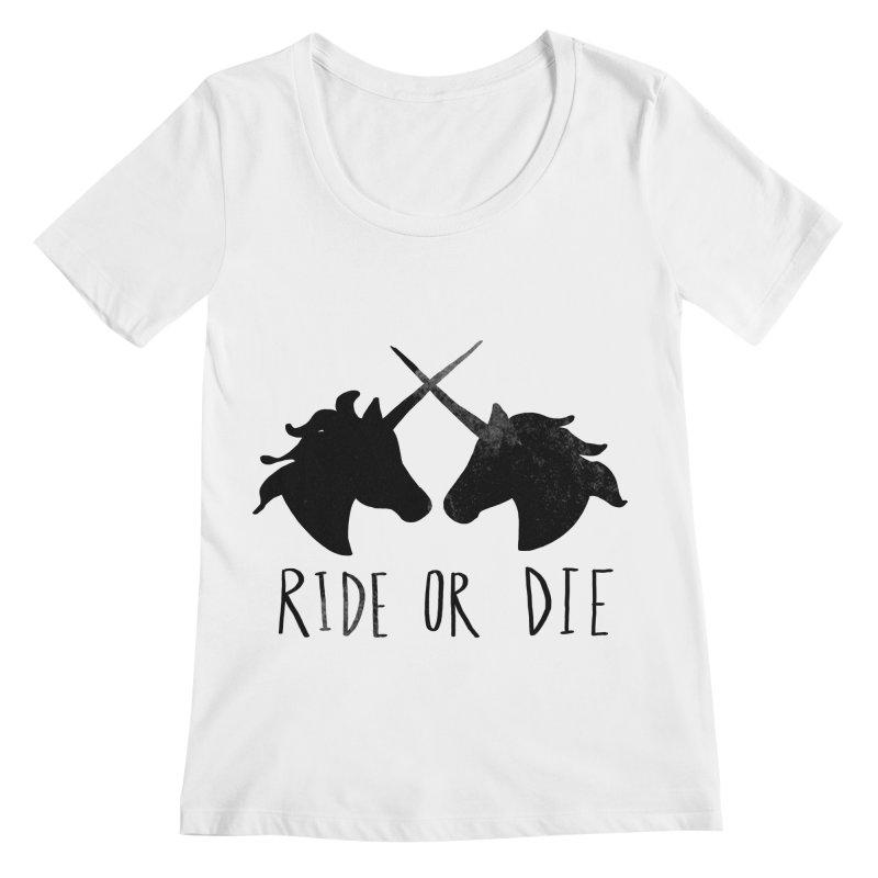 Ride or Die Women's Regular Scoop Neck by Leah Flores' Artist Adventureland Shop