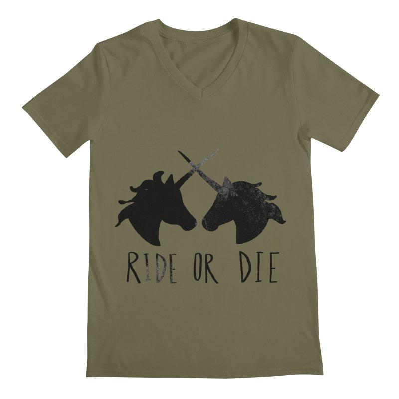 Ride or Die Men's V-Neck by Leah Flores' Artist Adventureland Shop