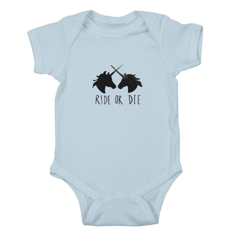 Ride or Die Kids Baby Bodysuit by Leah Flores' Artist Adventureland Shop