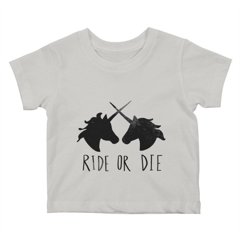 Ride or Die Kids Baby T-Shirt by Leah Flores' Artist Adventureland Shop