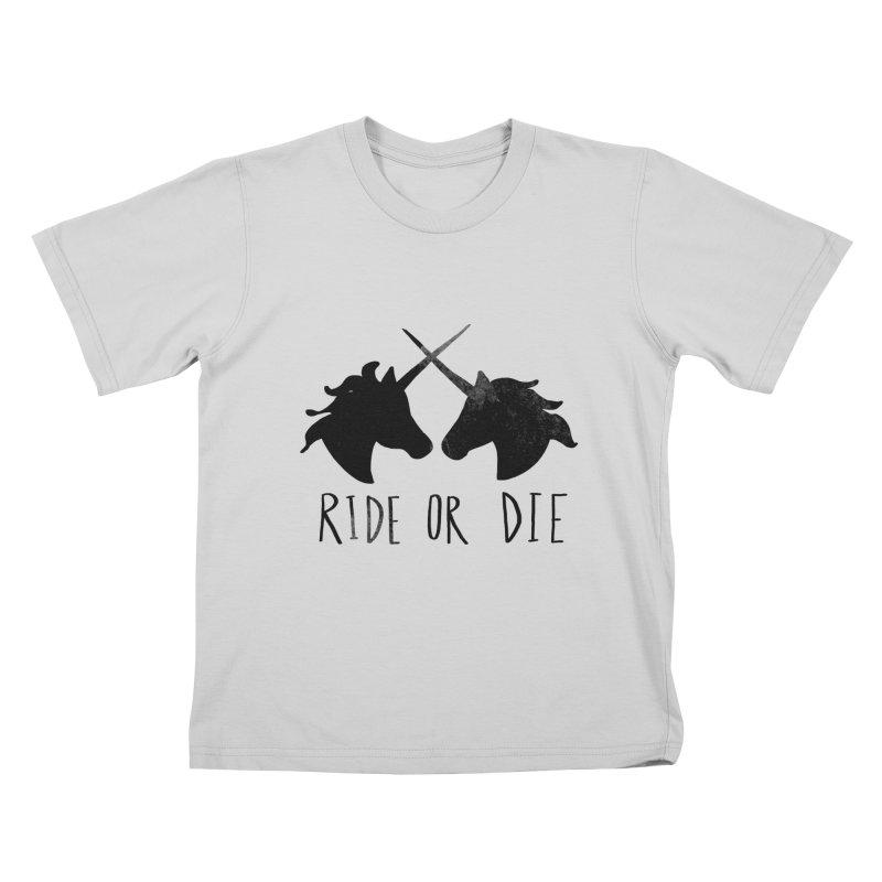 Ride or Die Kids T-Shirt by Leah Flores' Artist Adventureland Shop