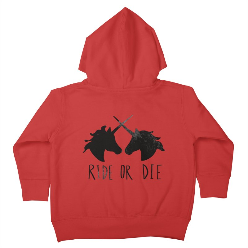 Ride or Die Kids Toddler Zip-Up Hoody by Leah Flores' Artist Adventureland Shop