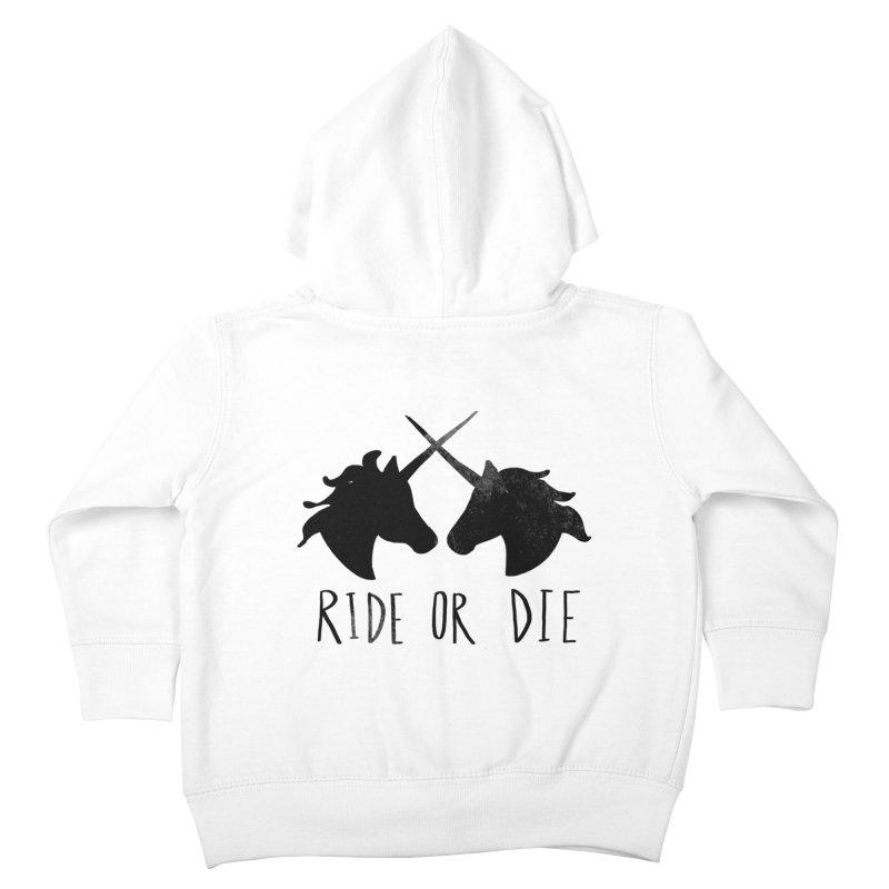 Ride or Die Kids Toddler Zip-Up Hoody by Leah Flores' Artist Adventureland Shop