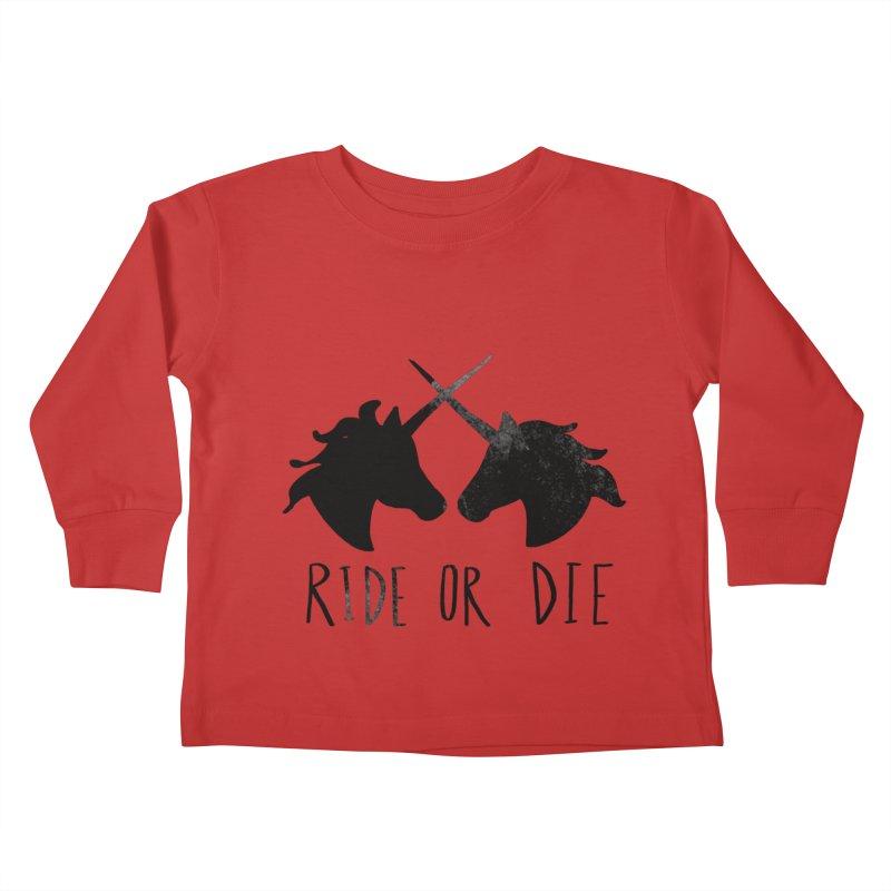 Ride or Die Kids Toddler Longsleeve T-Shirt by Leah Flores' Artist Adventureland Shop