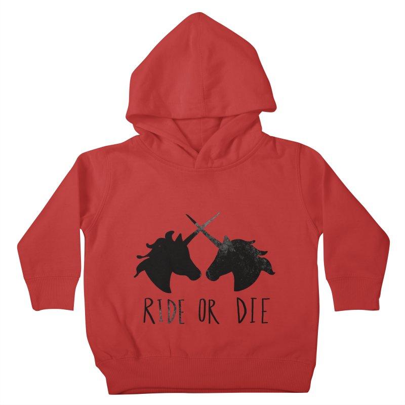 Ride or Die Kids Toddler Pullover Hoody by Leah Flores' Artist Adventureland Shop
