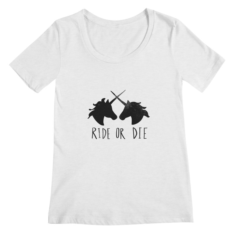 Ride or Die Women's Scoop Neck by Leah Flores' Artist Adventureland Shop