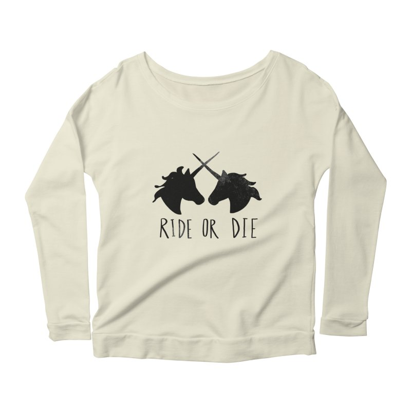 Ride or Die Women's Longsleeve Scoopneck  by Leah Flores' Artist Adventureland Shop