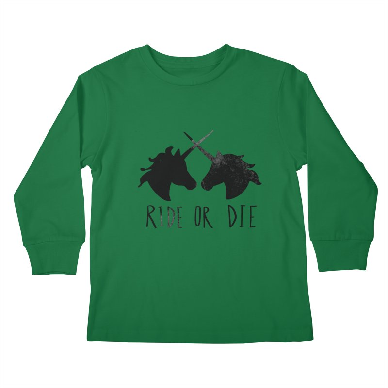 Ride or Die Kids Longsleeve T-Shirt by Leah Flores' Artist Adventureland Shop