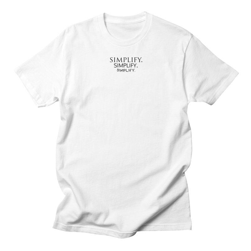 Simplify Men's Regular T-Shirt by learnthebrand's Artist Shop