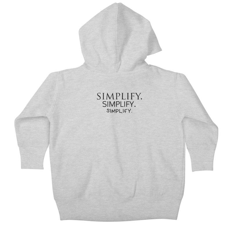 Simplify Kids Baby Zip-Up Hoody by learnthebrand's Artist Shop