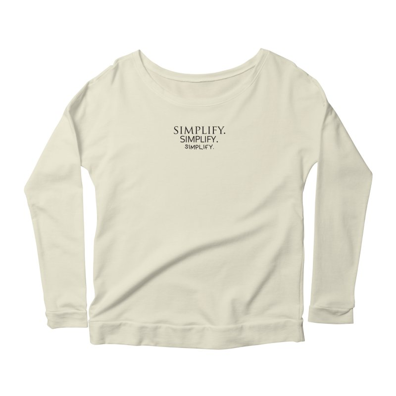 Simplify Women's Longsleeve Scoopneck  by learnthebrand's Artist Shop
