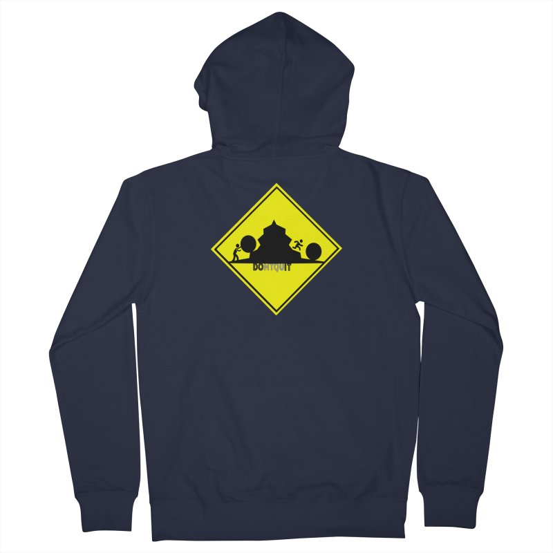 Don't Quit Men's Zip-Up Hoody by learnthebrand's Artist Shop