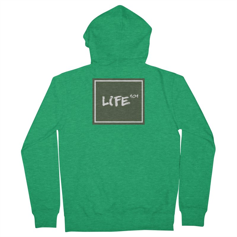 Life 101 Women's French Terry Zip-Up Hoody by learnthebrand's Artist Shop