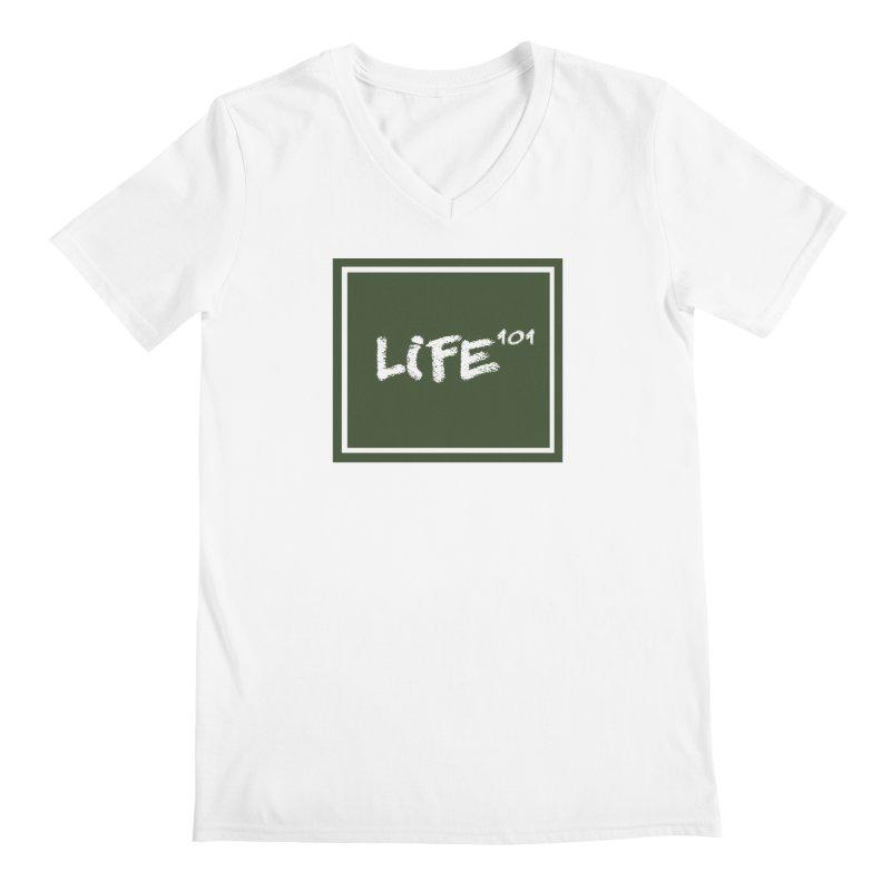Life 101 Men's V-Neck by learnthebrand's Artist Shop