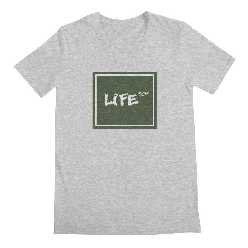 Life 101 Men's Regular V-Neck by learnthebrand's Artist Shop