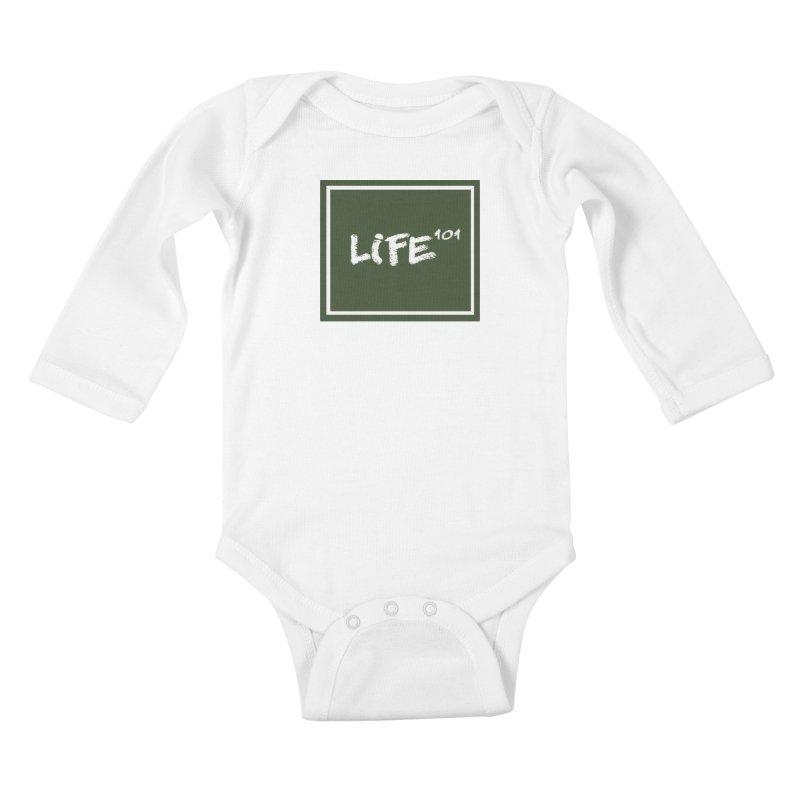 Life 101 Kids Baby Longsleeve Bodysuit by learnthebrand's Artist Shop