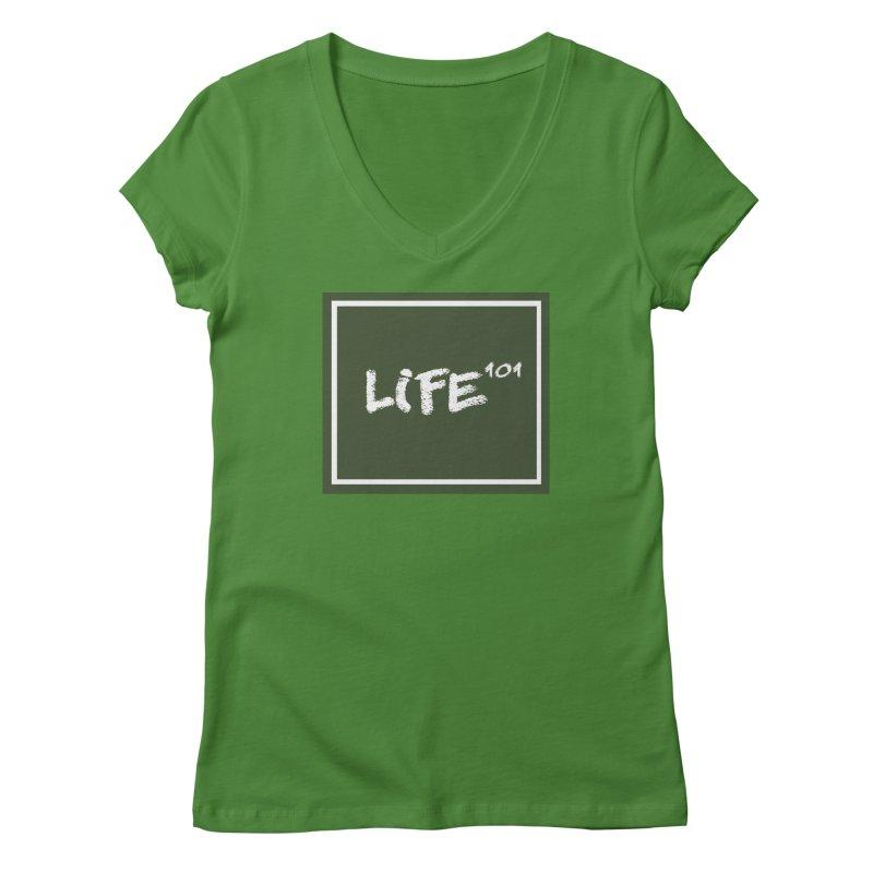 Life 101 Women's V-Neck by learnthebrand's Artist Shop
