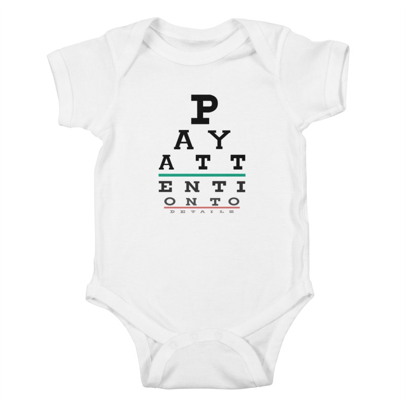 Detailz Kids Baby Bodysuit by learnthebrand's Artist Shop