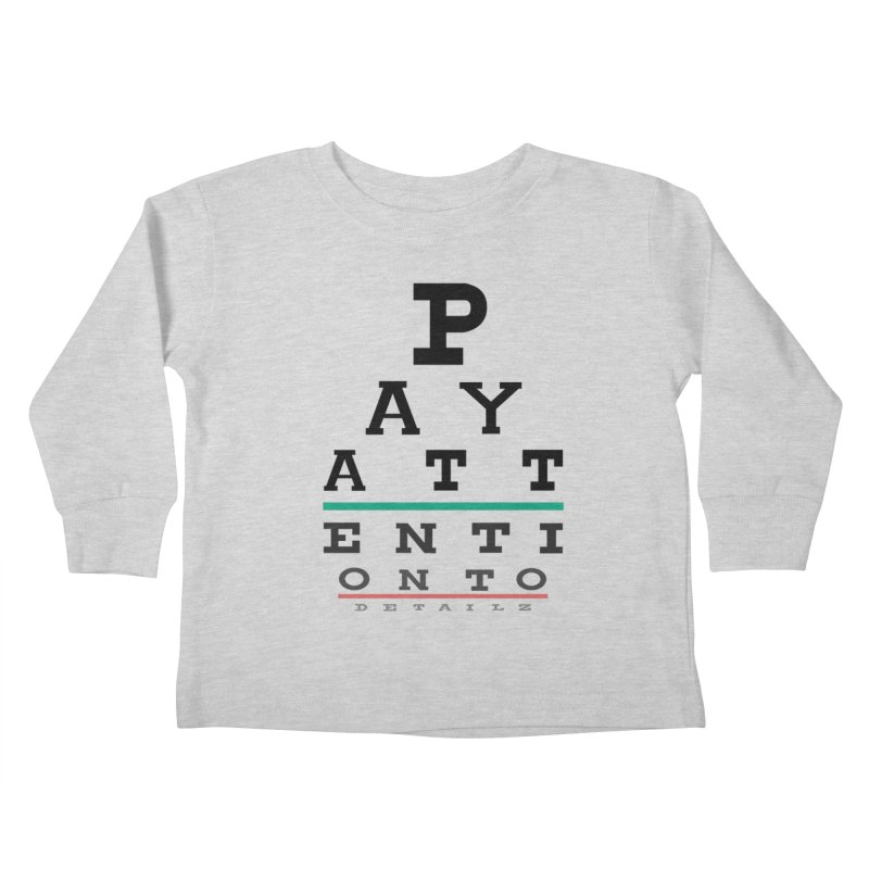 Detailz Kids Toddler Longsleeve T-Shirt by learnthebrand's Artist Shop