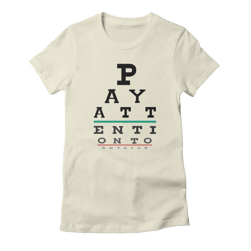 Detailz Women's Fitted T-Shirt by learnthebrand's Artist Shop